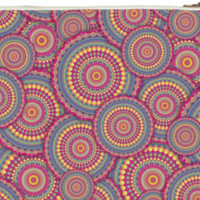 Pink Mandala Pattern Clutch Bag created by HippyGiftShop | Print All Over Me