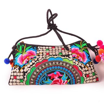 National Embroidered Messenger Vintage Hmong Ethnic Thai Indian Handbags