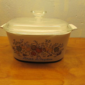 VINTAGE CORNING WARE BAKING DISH WITH LID