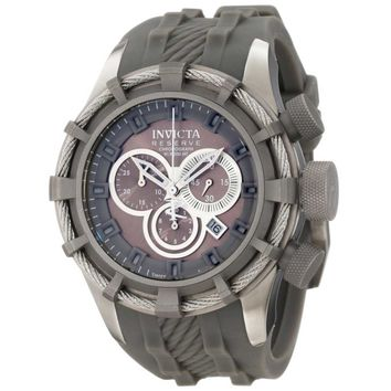 Invicta 1225 Men's Reserve Bolt Swiss Made Grey Rubber Strap Chronograph Watch