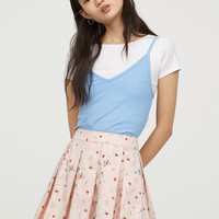 Pleated skirt - Powder pink/Insects - Ladies | H&M GB
