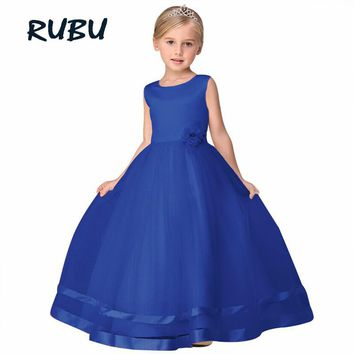 Princess Flower Girl Dress 2018 Christmas Party tutu Wedding Birthday Party Dresses For Girls Children's Costume Teenager Prom