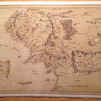 Middle Earth Map cotton fabric: Lord of The Rings The Hobbit