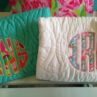 Lilly Pulitzer Fabric Monogram on Trina Turk Bedding Comforter and Shams