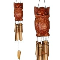 SheilaShrubs.com: Animal Bamboo Chime - Wise Owl CWO by Woodstock Chimes: Windchimes