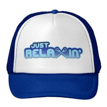 Just ReLAXin' Lacrosse Trucker Hat from Zazzle.com