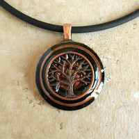 Tree of Life Necklace: Copper - Mens Necklace - Mens Jewelry - Celtic Jewelry - Tree Jewelry - Boyfriend Gift - Cord Necklace - Earth Day