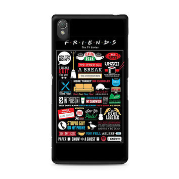 Friends TV Show Infographic Poster Sony Xperia Z3 case