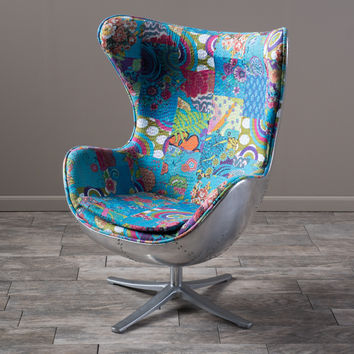 Christopher Knight Home Gordon Patchwork Fabric Swivel Chair | Overstock.com Shopping - The Best Deals on Living Room Chairs