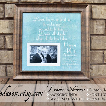 40th Wedding Anniversary Gift - Anniversary Gift for Mom - Dad Anniversary Gift - Parent Anniversary Gift - Grandparent Anniversary - 15x15