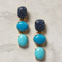 Triple Drop Earrings by Lele Sadoughi Blue Motif One Size Earrings