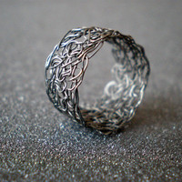 Crochet Sterling Silver Wire Ring | Luulla