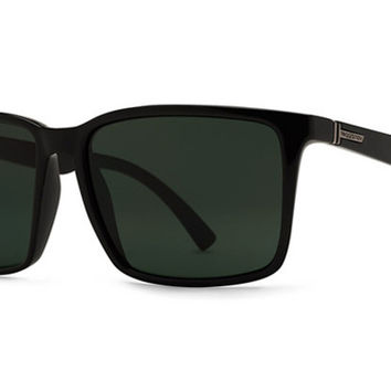 VonZipper - Lesmore Black Gloss BKV Sunglasses, Vintage Grey Lenses