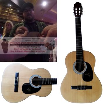 """Mitchell Tenpenny Signed Full Size 39"""" Country Music Acoustic Guitar, Proof Photo"""