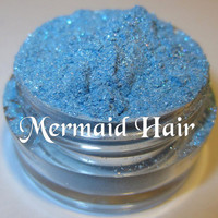 Mermaid Hair Light Blue Glimmer Silver Shimmer Mineral Eyeshadow Mica Pigment 5 Grams Lumikki Cosmetics