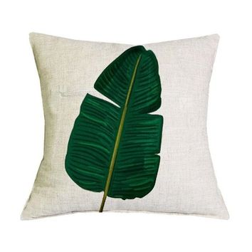 African Nature Cushion Covers - 43x43cm (Single Leaf 2)