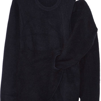 Toga - Cutout draped wool sweater