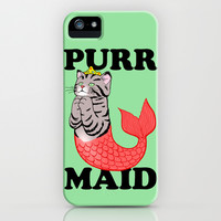 Purr Maid iPhone & iPod Case by LookHUMAN