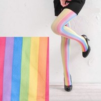 Rainbow Stripe Tights