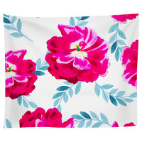 Flourescent Florals Tapestry