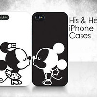"His & Hers Cases - ""Couple Kissing"" - 2 iPhone Cases"