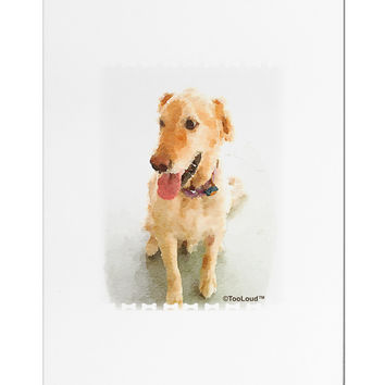 Golden Retriever Watercolor Aluminum Magnet