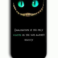 iPhone 5C Case - Rubber (TPU) Cover with Disney Quote Alice In Wonderland Rubber Case Design