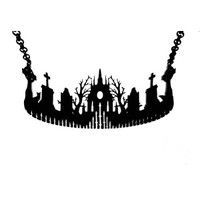 Curiology | Cemetery Silhouette Necklace - Tragic Beautiful buy online from Australia