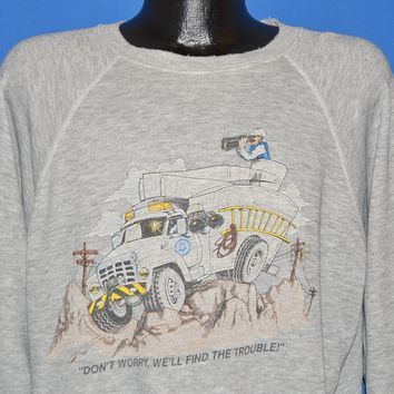 80s Bell Telephone Find The Trouble Sweatshirt Extra Large