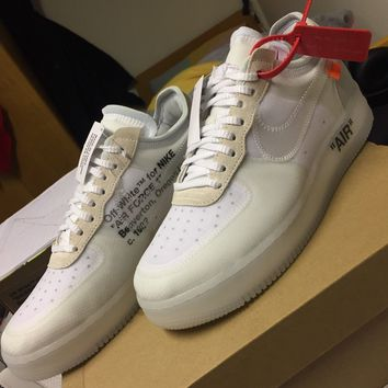 THE TEN : OFF WHITE NIKE AIR FORCE 1 LOW X VIRGIL ABLOH (UK 9.5)