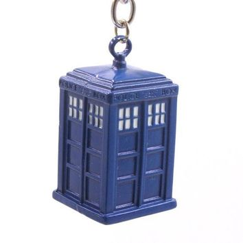CREYET7 Free shipping doctor who dalek tardis police box vintage Pendant key chain keyring key holder Accessories Gift Toy for men women