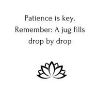 Patience is key. Remember: A jug fills drop by drop by IdeasForArtists