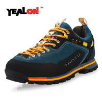 YEALON Hiking Shoes Waterproof Sneakers Men Shoes Outdoor Men Sports Waterproof Trekking Shoes Suede Mountain Shoes Men