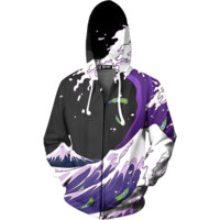 Purple Drank Waves Zip Up Hoodie