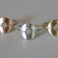 Fashion Jewelry Extraordinary Compass Shape Knuckle Rings For  R111