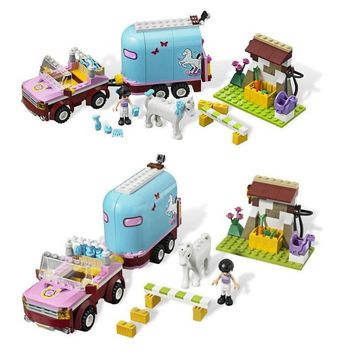 Friends Series For Girl Emma Princess Carriage Trailer Building Blocks Set Assemble Toys Compatible LegoINGly 3186 Horse Farm