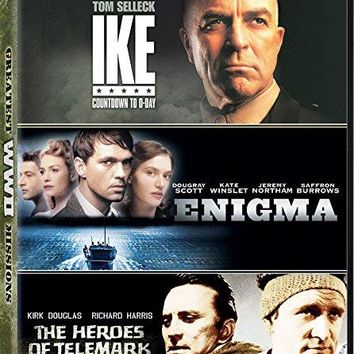 Tom Selleck & Kate Winslet & Robert Harmon & Michael Apted -Greatest WWII Missions Ike: Countdown to D-Day / Enigma / The Heroes of Telemark