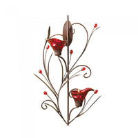 Ruby Bloosom Tealight Sconce