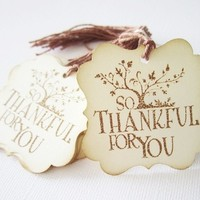 So Thankful Thank You Tags for Fall Season or Thanksgiving from Adorebynat