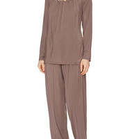 Midnight by Carole Hochman Women's Classic Moments Long Pajama Set - Pink
