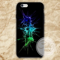Batman Cracked Out Broken Glass iPhone 4/4S, 5/5S, 5C Series, Samsung Galaxy S3, Samsung Galaxy S4, Samsung Galaxy S5 - Hard Plastic, Rubber Case