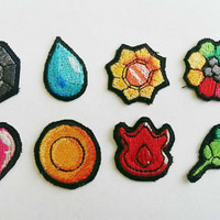 Pokemon Indigo Badge Patches