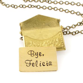 Love Letter (or Hate Mail) Locket Necklace - Spiffing Jewelry