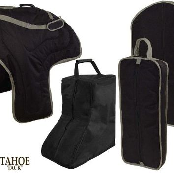Tahoe Western Horse Saddle Boot Halter Garment Carry Bag Set 4 Items