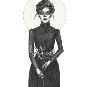 Lady In Mourning- Print 8x10