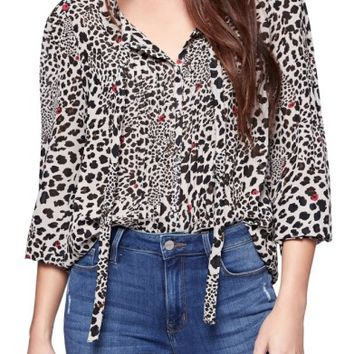 Sanctuary Bella Animal Print Blouse | Nordstrom