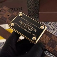 LOUIS VUITTON X Monogram BROWN belt SPAIN SUPREME Men's LV Initiales