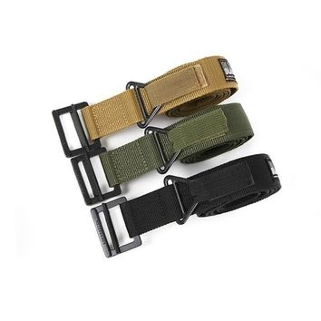 Adjustable Men's Military Nylon Combat Rescue Rigger Belt Canvas Leisure Blackhawks Tactical Belt