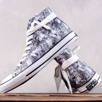 AUGUAU Converse All Star Chuck Taylor Wanted Monkey D Luffy Causal Skate Shoes
