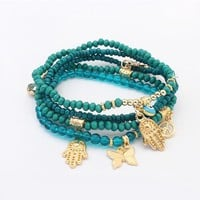 Blue Evil Eye Charms Bracelets & Bangles